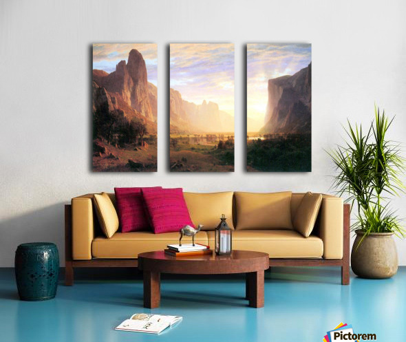 Yosemite Valley 3 by Bierstadt Split Canvas print