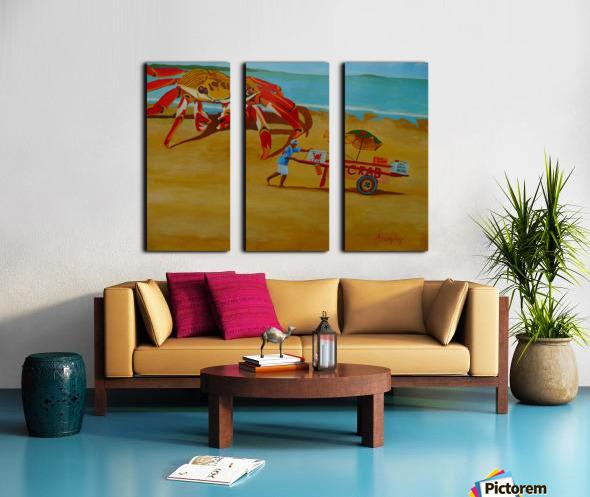 Crab Food Vendor Split Canvas print