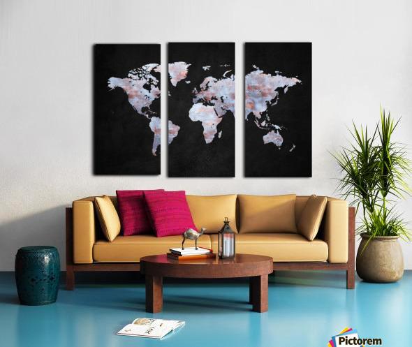 Artistic World Map XII Split Canvas print