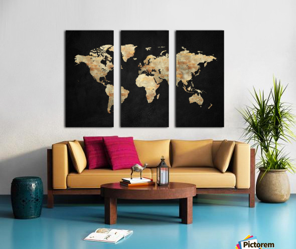 Artistic World Map XIII Split Canvas print