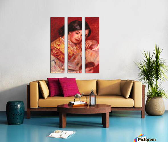 Young girl with fan by Renoir Split Canvas print