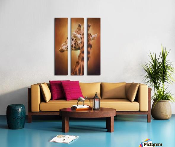 Rising Above - Giraffe Art Split Canvas print