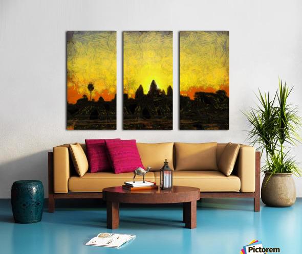 CAMBODIA 136 Angkor Wat  Siem Reap VincentHD Split Canvas print