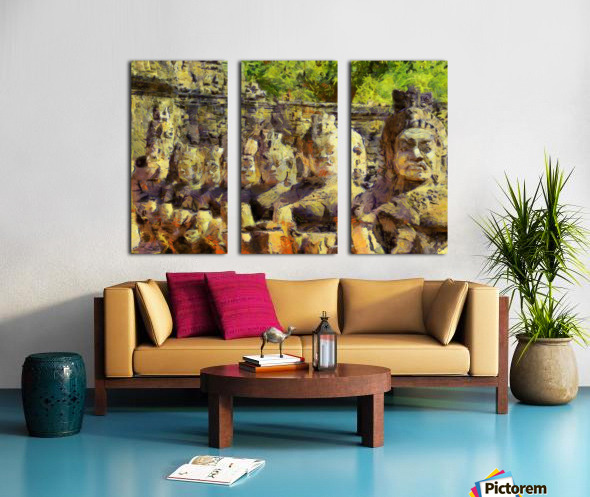 CAMBODIA Angkor Wat oil painting in Vincent van Gogh style. 141 Split Canvas print