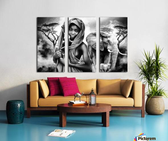africa 2 Split Canvas print