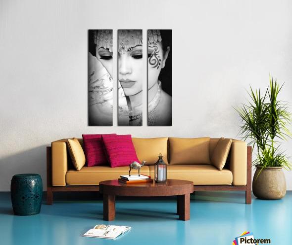 asia 1 Split Canvas print