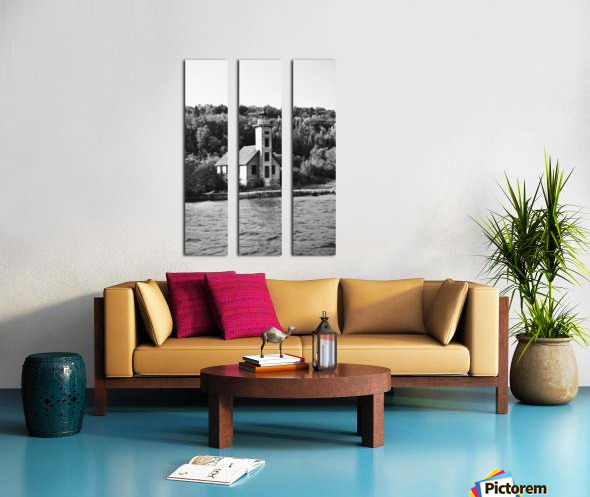 Grand Island Light house BW Split Canvas print