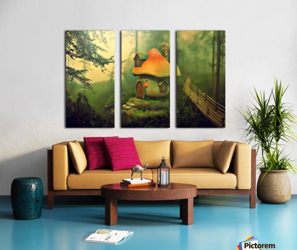 Mushroom Cottage Split Canvas print