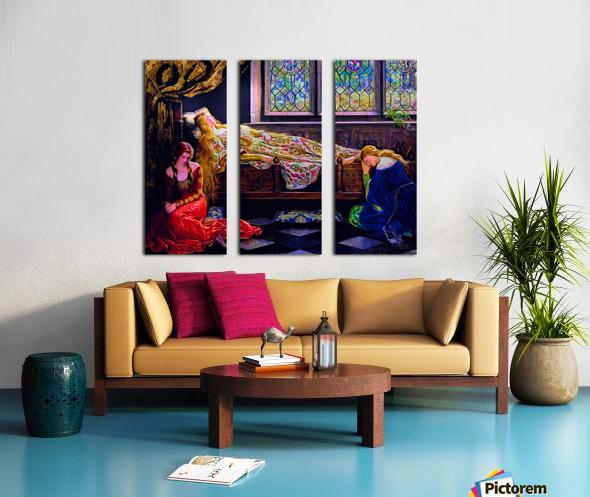 Aurora Split Canvas print