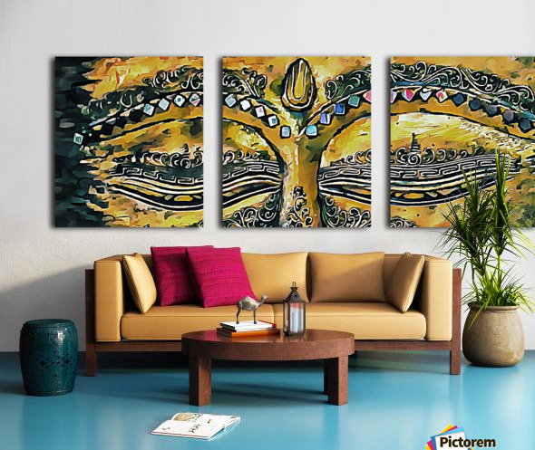 Eyes of Buddha Split Canvas print