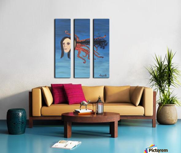 Psychoanalysis Portrait Split Canvas print