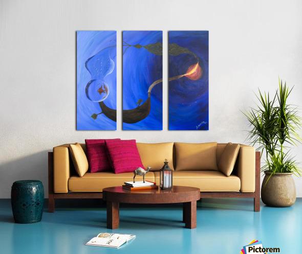 Element Harmony Split Canvas print