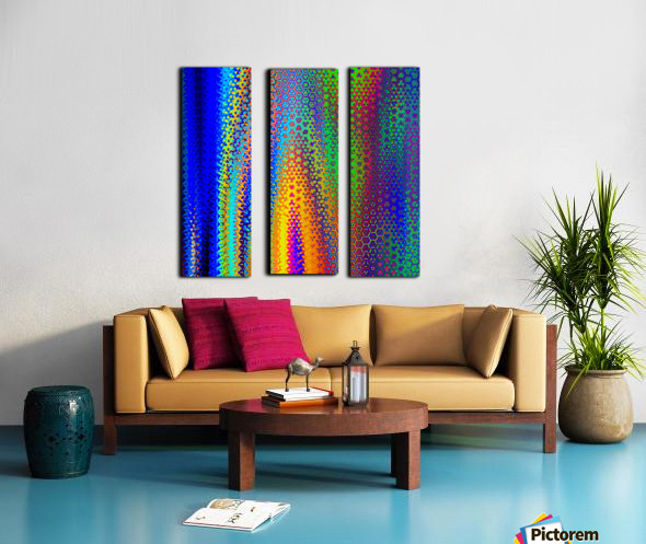 psychedelic wave Split Canvas print