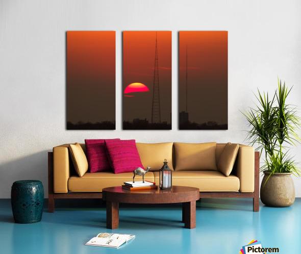 KCMO Tower Sunset  Split Canvas print