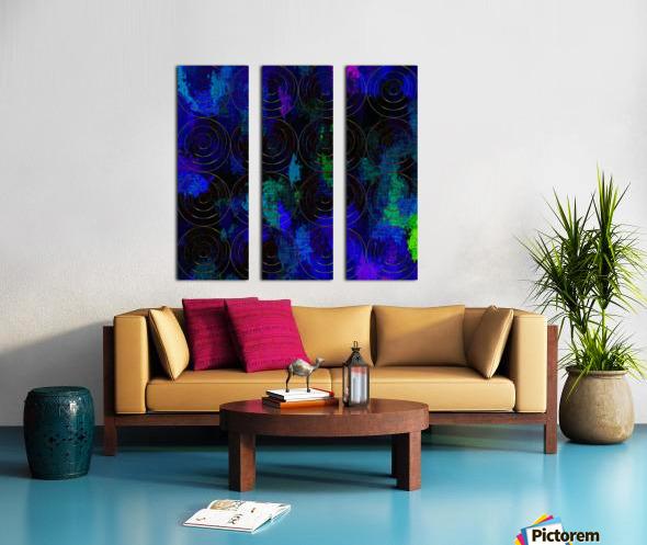 Blue Splash Wings Split Canvas print