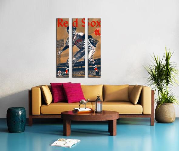 1960 Boston Red Sox Remix Art Split Canvas print