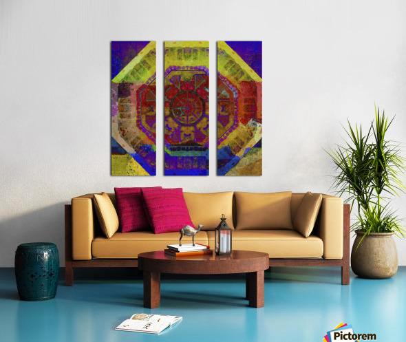 Aztec Dreaming Split Canvas print