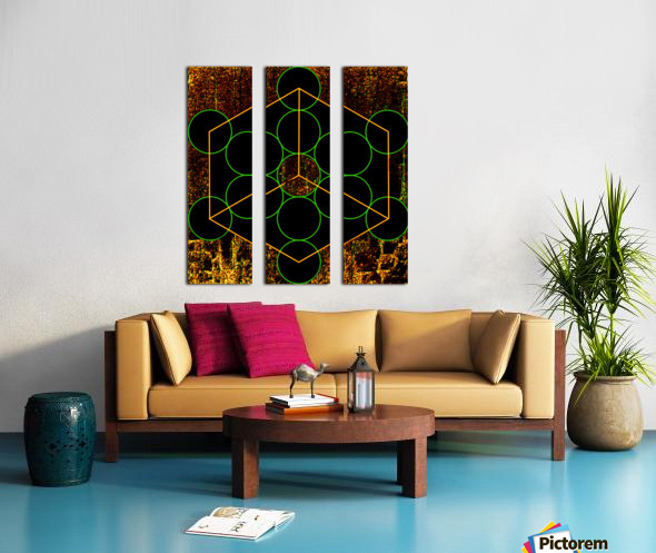 Experiments with Geometry 3 Split Canvas print