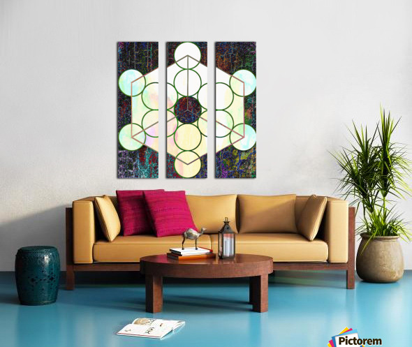 Experiments With Geometry 7 Split Canvas print