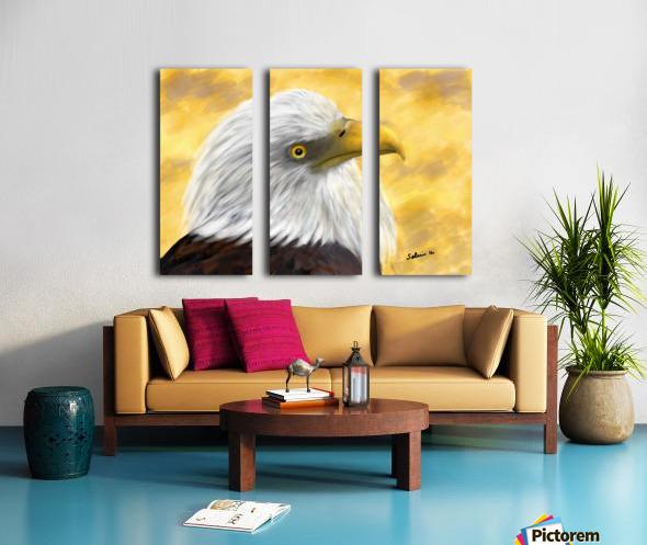 Proud Eagle Split Canvas print