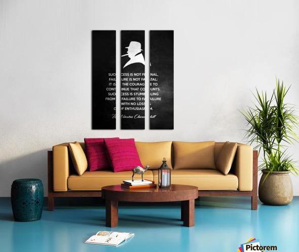 Winston Churchill Motivational Wall Art Split Canvas print