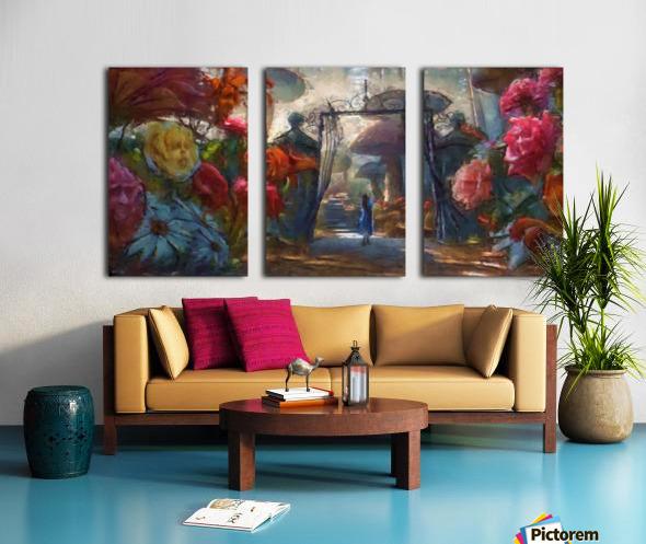 Flowers of Wonderland Split Canvas print