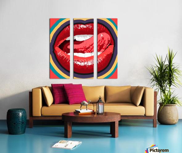 Lip Service Split Canvas print