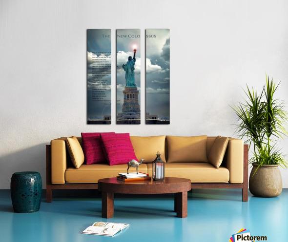 New Colossus Split Canvas print