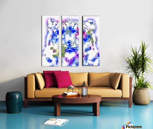 Spirit of the Snow Leopard  Split Canvas print