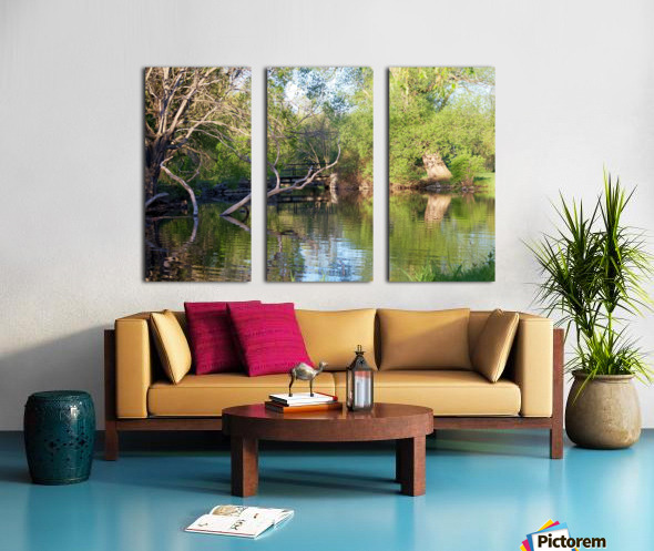 Relaxing Pond View Split Canvas print