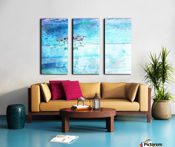 Three Whimbrels Split Canvas print