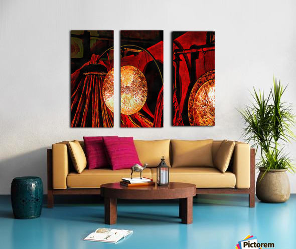 Energy Of Gongs Split Canvas print