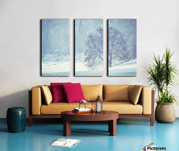 Snowy landscape Split Canvas print