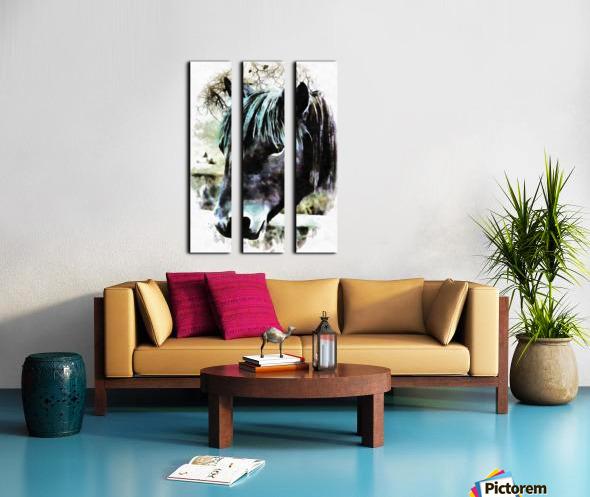 Horse Spirit Guide Split Canvas print