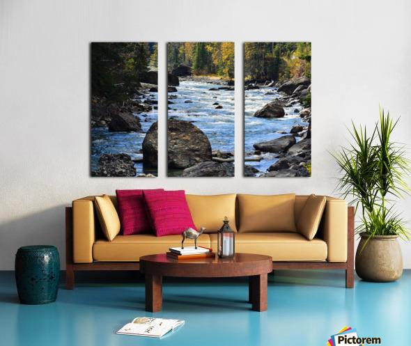 Babbling Brook Split Canvas print