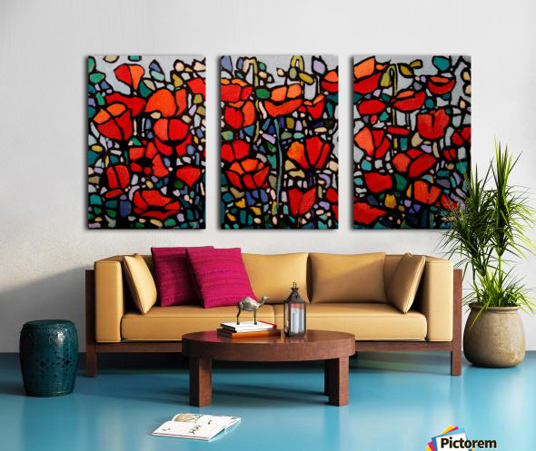 Poppies 1 Split Canvas print