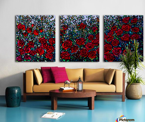 Garden of Roses Split Canvas print