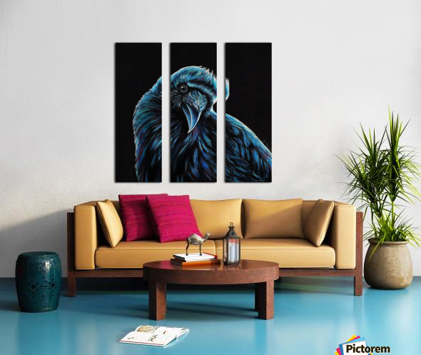 Curious Raven Split Canvas print