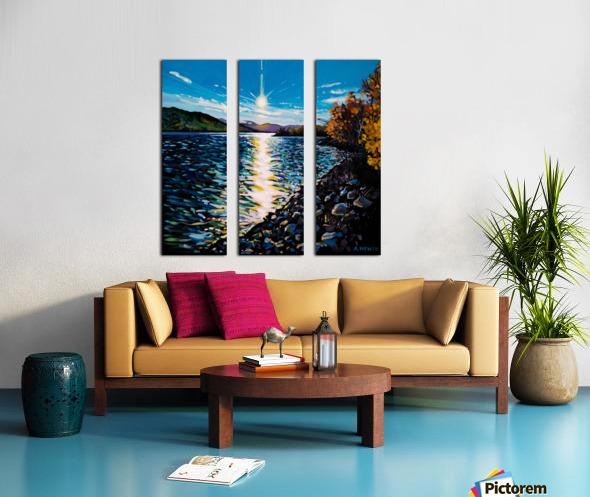 Moberly Lake Split Canvas print