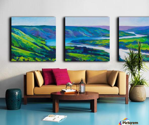 Peace River in Spring Split Canvas print