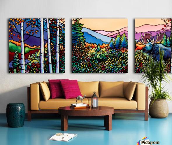 Into the Wild Split Canvas print