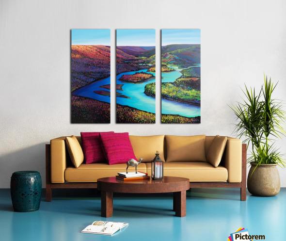 Fall Arrives at Peace River Split Canvas print