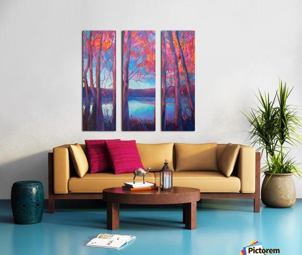 Autumn at the Lake Split Canvas print