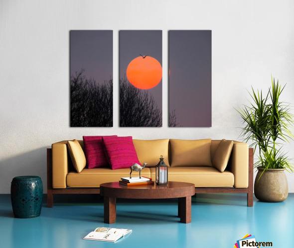 Sunrise lever de soleil Split Canvas print