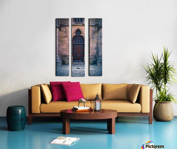Gothic entrance Split Canvas print