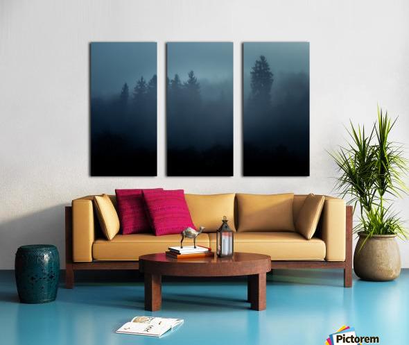 Foggy forest Split Canvas print