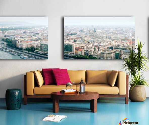 Budapest panorama Split Canvas print