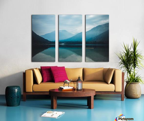 Mountain lake Split Canvas print