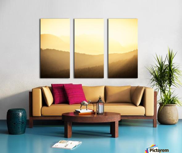 Mountain sunrise Split Canvas print