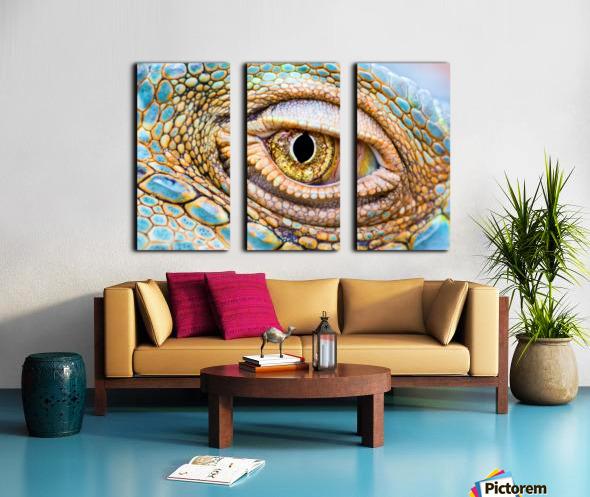 Eye of the dragon Split Canvas print